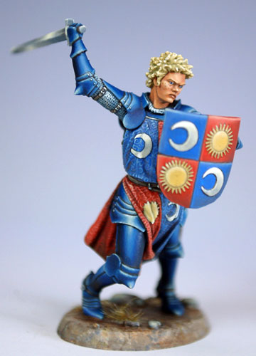Tom Meier's Darkworld miniature of Brienne of Tarth.